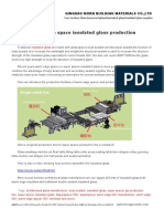 Warm Edge Space Insulated Glass Production