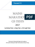 ForumIAS Mains Marathon GS Tests 2017 plan