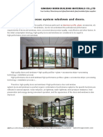 Why We Choose System Windows and Doors.