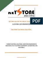 Keystone Elec Infra Catalogue