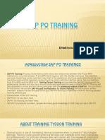 SAP PO TRAINING