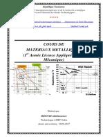 Cours Materiaux Metalliques
