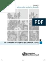 OMS Informe sobre la Salud en El Mundo - Resumen
