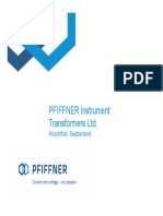 Priffner Instrument transformers