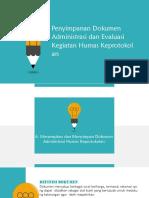 Penyimpanan Dokumen Administrasi dan Evaluasi Kegiatan Humas Keprotokolan