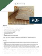 Pan de payés sin gluten (en bolsa de asar)