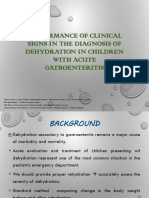 PERFORMANCE OF CLINICAL SIGNS IN DIAGNOSING DEHYDRATION