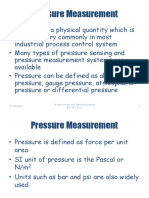 Lecture 12 - Measurement of Pressure