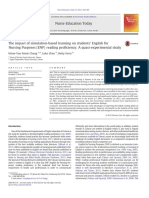 The impact of simulation-based learning on students' English for Nursing Purposes (ENP) reading proficiency_ A quasi-experimental study