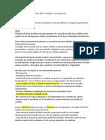 Justiça Internacional DELIMITAÇão Conceptual- Cap II