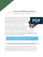 3 Modi Di Rimuovere DRM Da Libri Kindle