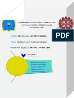 informe de peso unitario y compactado