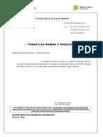 COMUNICADO Nº029 - ACTOS PÚBLICOS FINES TRAYECTO SECUNDARIO