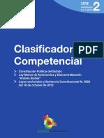CLASIFICADOR DE COMPETENCIAS BOLIVIA 2012