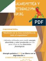 CALORIMETRÍA BIOFISICA