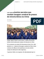 Os documentos secretos que revelam lavagem cerebral de presos de minoria étnica na China