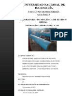 2019-II MN216 Informe 4 Mecánica de Fluidos I FIM - UNI