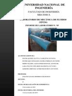 Informe 5 - Mecánica de Fluidos I - 2019 II - FIM - UNI