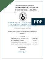 2019-II MN216 Informe 6 Mecánica de Fluidos I FIM - UNI