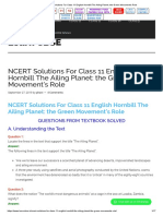 NCERT Solutions For Class 11 English Hornbill The Ailing Planet_ the Green Movement's Role.pdf