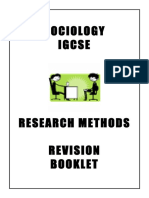 STUDY GUIDE - RESEARCH METHODS