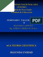 2. SEGUNDA UNIDAD,  TEORIA CIENTIFICA