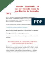 Procede acuerdo reparatorio en lesiones leves por violencia contra la mujer