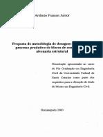 Proposta de metodologia de dosagem e controle do processo produtivo de blocos de concreto para alvenaria estrutural