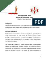 Kersttoespraak 2019 - Suriname