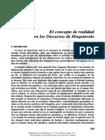 Fernández - El Concepto De Realidad En Los Discursos De Maquiavelo