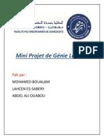 Mini Projet de Génie Logiciel