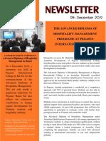 Newsletter - Pegasus International College - December 2019
