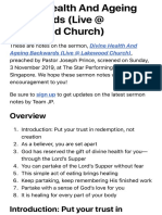 Divine Health And Ageing Backwards (Live @ Lakewood Church) | Official Joseph Prince Sermon Notes |