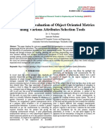 Performance Evaluation of Object Oriented Metrics Using Various Attributes Selection Tools