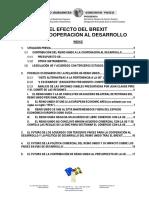 EL EFECTO DEL BREXIT EN LA COOPERACION AL DESARROLLO
