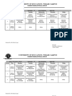 Evening Time Table Fall 2019-