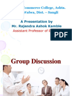 B.A.III Comp.English Group Discussion PPT
