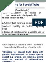 LSS Breeding for quality traits