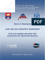 "Book of abstracts, COST MP1402 Scientific Workshop, ""ALD and related ultra-thin film processes for advanced devices"" Belgrade, Serbia, August 29-30, 2017"
