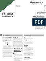 инструкция Pioneer DEH-2400UB_DEH-3400UB_1