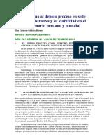 1. ESPINOZA-SALDAÑA, Eloy. En torno al debido proceso en sede administrativa y su viabilidad.doc