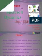 MS Dynamics ERP Ppt