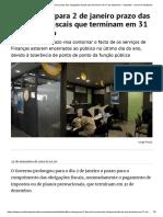 Fisco alarga para 2 de janeiro prazo das obrigações fiscais que terminam em 31 de dezembro - impostos - Jornal de Negócios