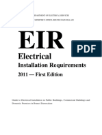 Electrical Installation Requirements - Ref. Appendix (Brunei)