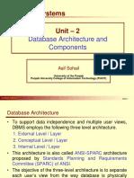 Unit 2 Datbase Architecture and Components