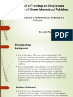 Research Proposal (Training & Employees Performance)