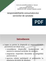 Responsabilitatile consumatorului  serviciilor de sanatate