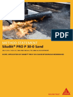 MS_Sikabit PRO P 30-0 Sand (Application of Sikabit® PRO P 30-0 Sand Bituminous Membranes)(v.01.2019)