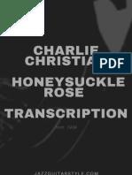 Charlie Christian Honeysuckle Rose Transcription