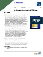 Sustitucion r12 a 134a